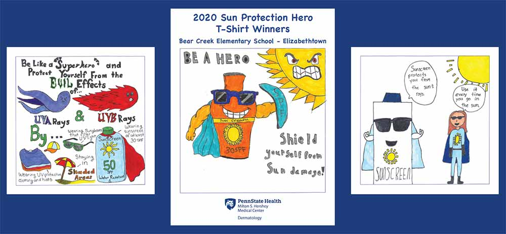 Hershey Community Pool Lifeguards sun protection program - lifeguards are outfitted with sun protection shirts