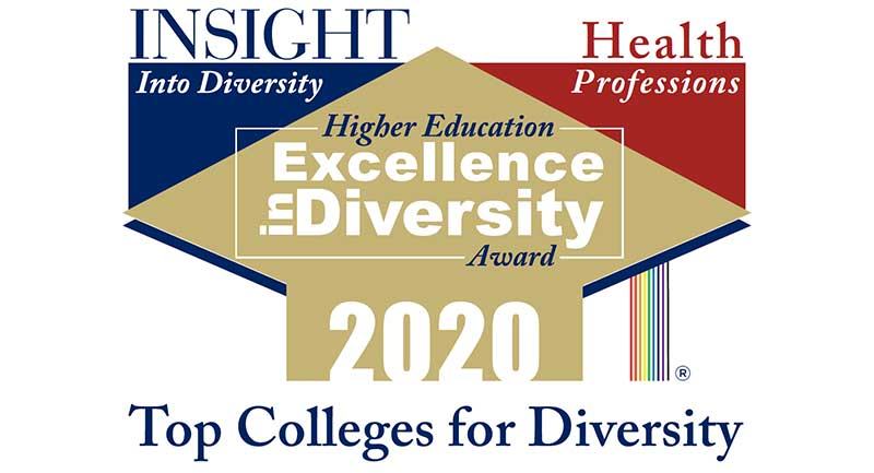 Insight into Diversity logo: Higher Education Excellence in Diversity Award 2020.