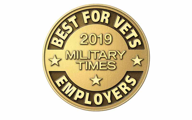 Military Times award seal: Best for Vets Employers 2019.