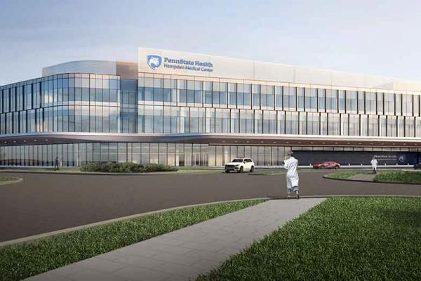 Mock-up of future Hampden Medical Center.