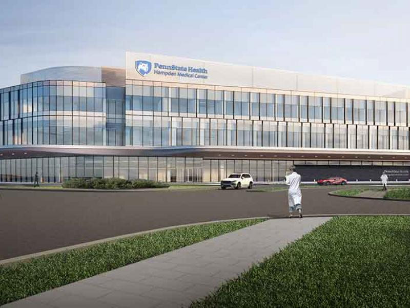 A mock-up of the new Hampden Medical Center.