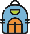 icon for children's backpack